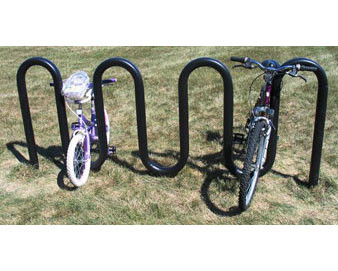 9-Bike 2-3/8 Premier Plastisol Coated Colored Wave Bike Rack