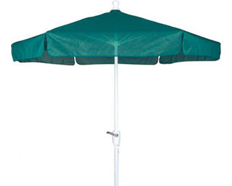 7.5' Garden Umbrella with Vinyl Coated Weave and Bright Aluminum Pole