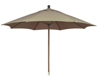11' Market Umbrella with Sunbrella® Cover and Pulley & Pin Lift