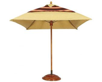 7.5 Square Augusta FiberTeak Umbrella Sunbrella Cover & Pulley & Pin Lift