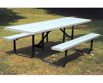 8-Ft. Heavy-Duty ADA Aluminum Picnic Table