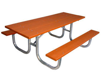 8-Ft. Heavy-Duty Double Sided ADA Recycled Plastic Picnic Table