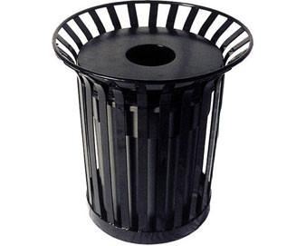 36-Gal. Vertical Slat Pattern Lexington Trash Receptacle