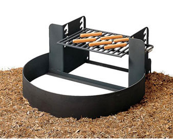 285 Sq. Fire Ring with Adjustable Grate