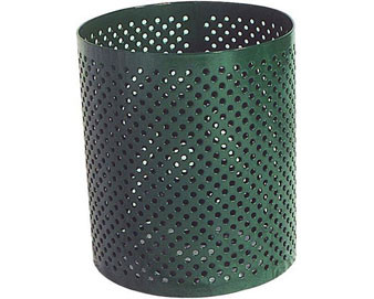 Perforated Pattern Trash Receptacle