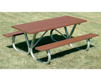 6-Ft. Heavy-Duty Wooden Picnic Table with Bolt-Thru Frame