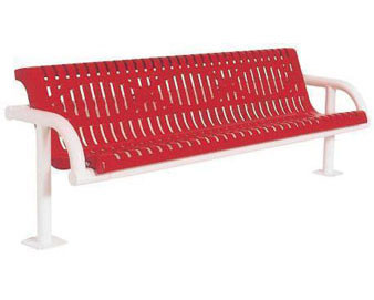 6-Ft. Contour Cantilever Add-On Bench with Back