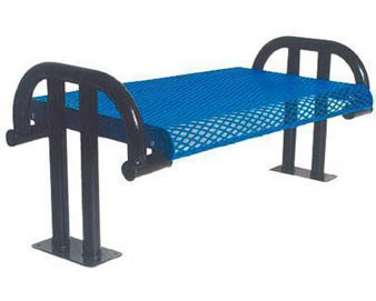 4-Ft. Contour Cantilever Add-On Bench without Back