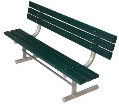 8-Ft. Wooden Park Bench with Back