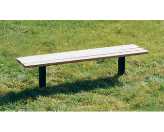 8-Ft. Wooden Flat Slat Park Bench without Back