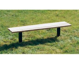 6-Ft. Wooden Flat Slat Park Bench without Back