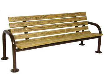 Recycled Plastic U-Frame Park Bench