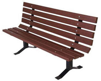 Recycled Plastic Single Sided Park Bench