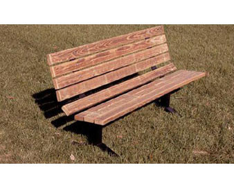8-Ft. Wooden Single Sided Park Bench