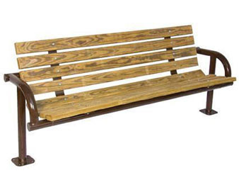 Recycled Plastic Single Post Park Bench