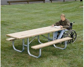 8-Ft. Heavy-Duty Single Sided ADA Wooden Picnic Table