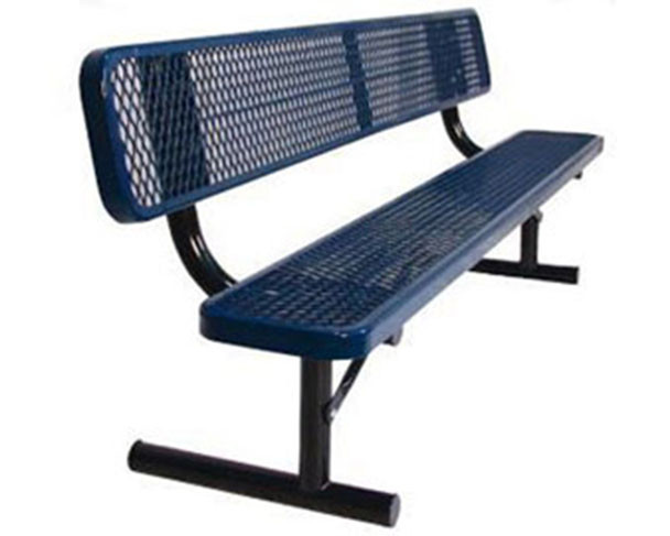 "8-Ft. Heavy-Duty Team Bench with 12"" Wide Back & Seat"