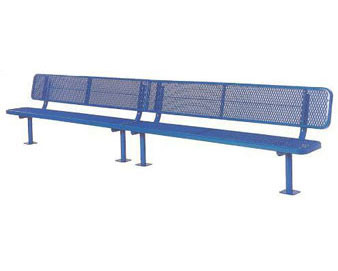 "15-Ft. Heavy-Duty Team Bench with 12"" Wide Back & Seat"