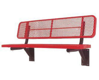 "6-Ft. Heavy-Duty Player's Bench with 15"" Wide Back & Seat"