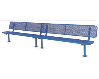 "15-Ft. Heavy-Duty Player's Bench with 15"" Wide Back & Seat"