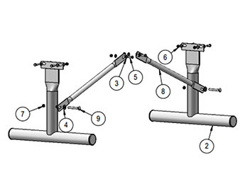 Heavy-Duty Frame for Team Bench without Back