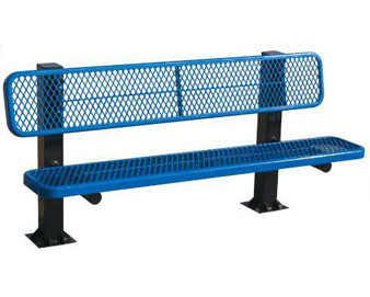 8-Ft. Single Sided Bollard Surface Mount Bench