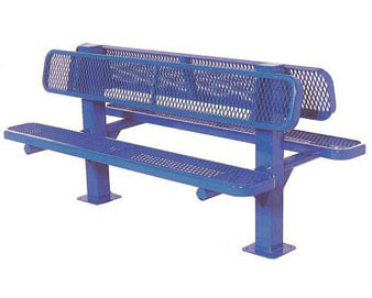 6-Ft. Double Sided Bollard Surface Mount Bench