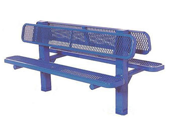 8-Ft. Double Sided Bollard Inground Bench