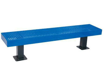 4-Ft. Mall Series Surface Mount Bench without Back