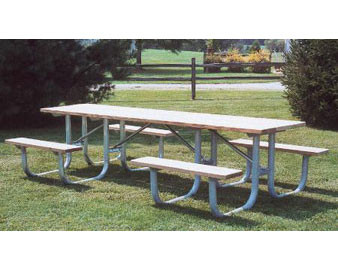 10-Ft. Heavy-Duty ADA Wooden Shelter Picnic Table with 4 legs