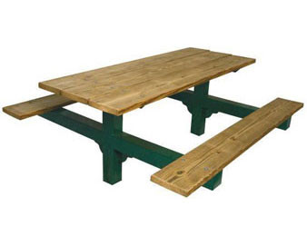 Dual Pedestal Recycled Plastic Table