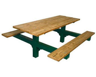 8-Ft. Dual Pedestal Recycled Plastic ADA Picnic Table