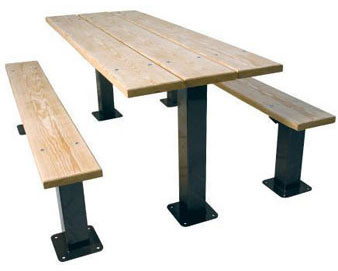6-Ft. Multi Pedestal Recycled Plastic Picnic Table