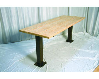 8-Ft. Multi Pedestal Recycled Plastic Utility Table