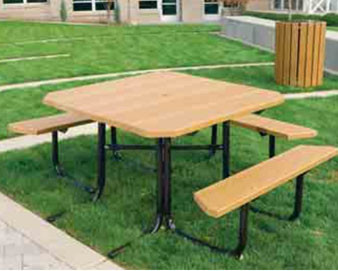 48 Square Recycled Plastic Picnic Table