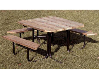 48 Square Recycled Plastic ADA Picnic Table