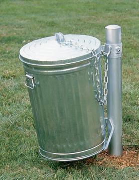 31-Gallon Galvanized Trash Can