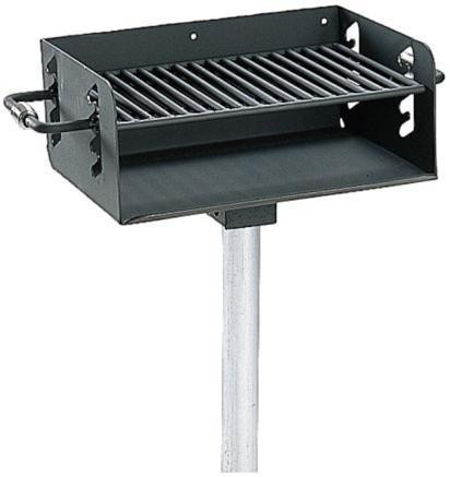 280 Sq. Rotating Pedestal Grill with 3½ O.D. Post