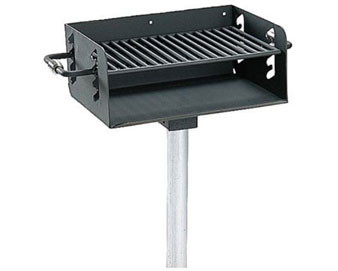 280 Sq. Rotating Pedestal Galvanized Grill with 3½ O.D. Post