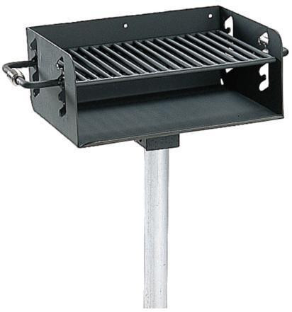 300 Sq. Rotating Pedestal Galvanized Grill with 3½ O.D. Post