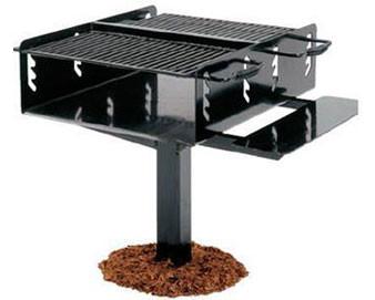 1008 Sq. Bi-Level Group Galvanized Grill with Utility Shelf