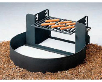18 High ADA Fire Ring with Adjustable Grate
