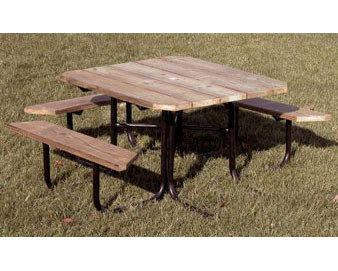 48 Square Aluminum ADA Picnic Table