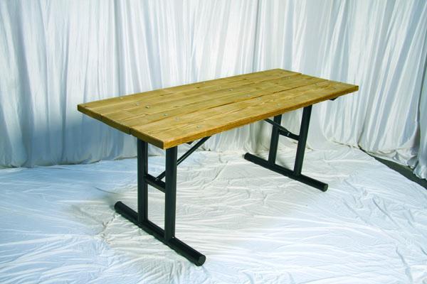 8-Ft. Heavy-Duty Wooden Utility Table