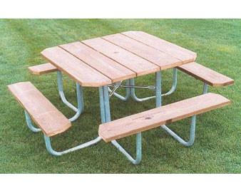48 Square Aluminum Picnic Table
