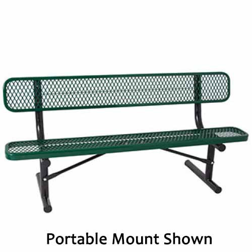 Everest Series 8-Ft. Park Bench with Back