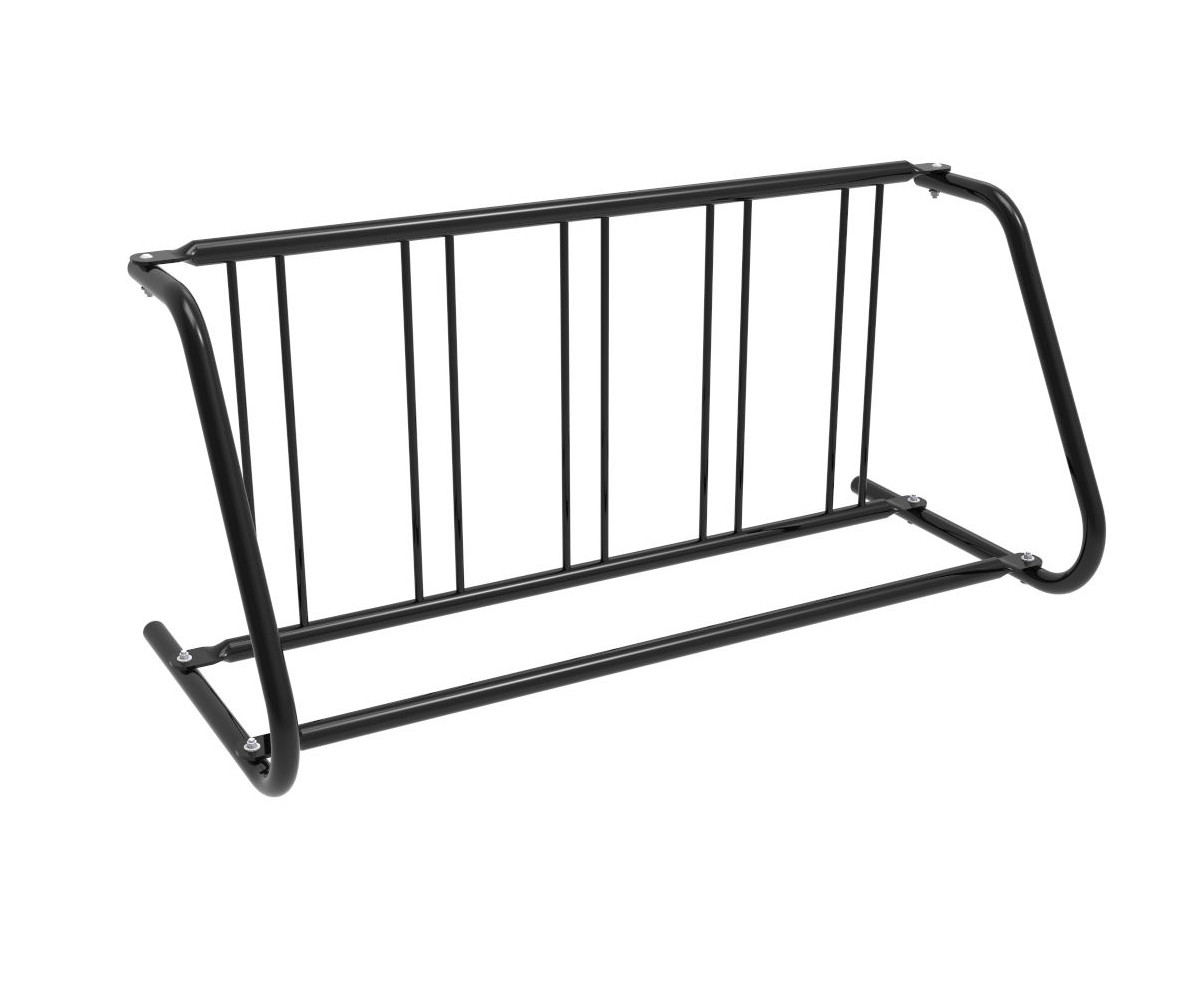 5-Bike Single-Sided Grid Bike Rack