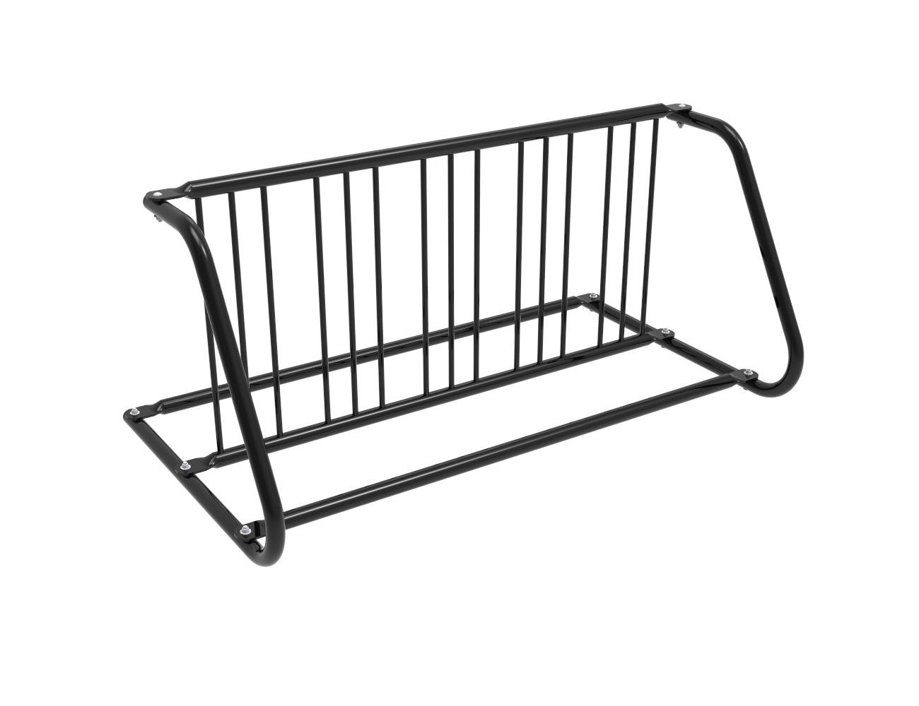 10-Bike Double-Sided Grid Bike Rack