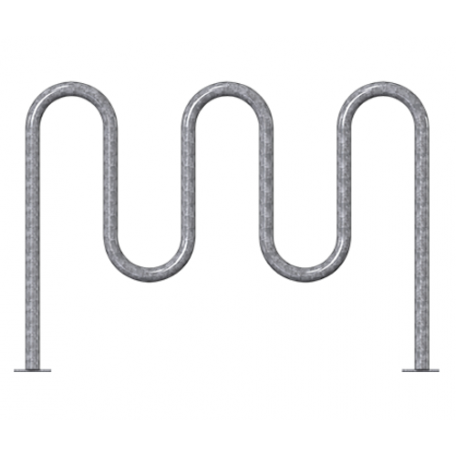 7 Bike Wave Rack - 2 3/8in Heavy-Duty - Galvanized