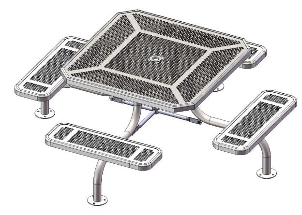 Octagon Span Leg Picnic Table